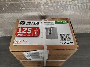 Ge Main Lug Load Center 125 Amp 8 Circuits Boxed, Copper Bus