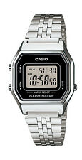 Casio LA680WA-1D Women's Vintage Silver Tone Chronograph Alarm Digital Watch