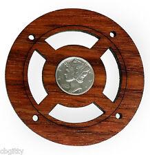 """Mercury Dime"" Vintage Silver Coin Sound Hole Cover for Cigar Box Guitars"