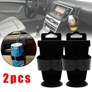 2Pc Car Door Mount Standing Cup Holder Case Drink Bottle Interior Accessory