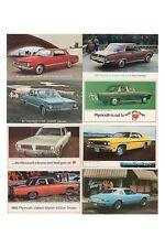 8 1964-78 Plymouth Valiant Sigillo Duster Volare Pubblicità Cartoline Non Usato