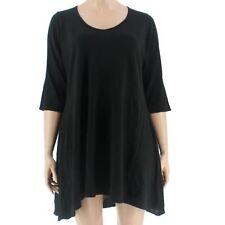2253f6c645 Women NY Collection Black Sweater Dress V Neck Macys Plus 1x XL 117