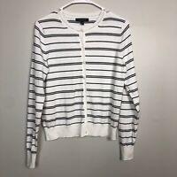 Banana Republic Women's Size M Cardigan Sweater Cotton Stretch Stripe