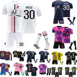 21/22 New Kids Football Full Kits Boys Junior Adult Soccer Jersey Strip Set UK