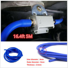 4mm Silicone Vacuum Tube Hose Engine Silicon Pipe Hose 16.4ft 5M 5 Meters Blue