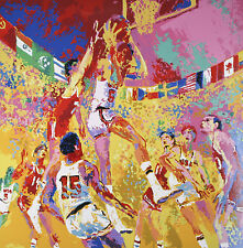 """Basketball"" By Leroy Neiman Signed Artist's Proof AP Silkscreen 1972 w/ COA"