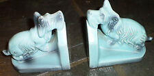Vintage Ceramic Dog Bookends (Germany, Early 1900s)