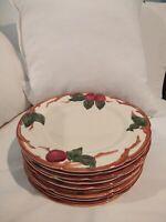 Seven Vintage Franciscan Dinner Plates - Apple Pattern