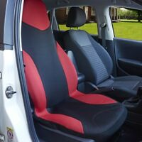 Universal Heavy Duty Cotton Car Seat Covers Waterproof Protectors Van Front Red