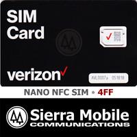 VERIZON NANO NFC SIM 4FF • CDMA 4GLTE • ANDROID • Prepaid or Contract • NEW OEM