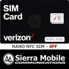 Verizon Nano Nfc Sim 4Ff • Cdma 4Glte • Android • Prepaid or Contract • New Oem