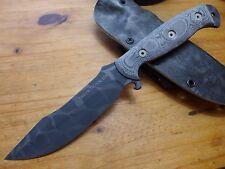 Dawson Knives Explorer Elite - Black Adder - Black Micarta - Kryptek Sheath
