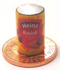 1.12 vide RAVIOLI tin Maison Poupées Miniature Cuisine pâtes alimentaires peut Accessoire