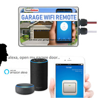 Smart WiFi Garage Door Opener Smartphone Remote Control Sensor Alexa Compatible