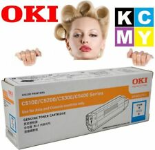 OKI GENUINE 42127411 CYAN/BLUE Printer Toner Cartridge C5100/C5200/C5300/C5400