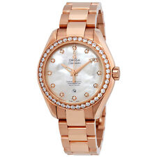 Omega Seamaster 18kt Rose Gold Ladies Watch 231.55.34.20.55.003