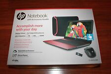 "New HP 15-ba051wm 15.6"" Touchscreen Laptop Bundle/AMD A10/8G/1TB/Win10/Red/Mouse"