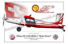 """Pilatus PC-6 B2-H2M-1 """"Turbo Porter"""" """"Felix"""" Patrouille Suisse - Aircraft Poster"""