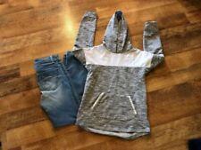 Lot Of 2 Girls Sz 10 justice leggings with SO brand hooded sweatshirt EUC Cute!!