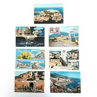Monaco Postcards Vintage Lot of 7 Older Monaco Postcards (1 Used and 6 Unused)