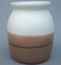 Vase Jar 64 oz White Oak Canada Reverse Drip Apricot Caramel 1970s Art Pottery