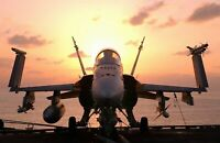 """F/A-18 """"Hornet"""" with Weapons Ready. Lifetime Quality Giclee Photo  11x17 Print"""