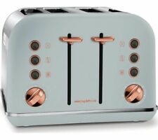 MORPHY RICHARDS Accents 242040 4-Slice Toaster - Grey & Rose Gold - Currys