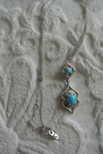 Small Turquoise Pendant with chain