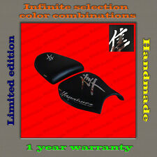 CUSTOM Design Seat Cover Suzuki Hayabusa 99-07 black+CHROME (MIRROR) 001_1