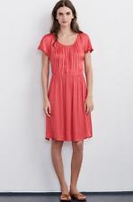 VELVET By Graham & Spencer Laurela Satin Viscose Short Sleeve Dress Red S $128