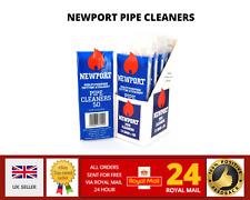 More details for newport straight white cotton pipe cleaners tobacco cleaner conical - bag of 50