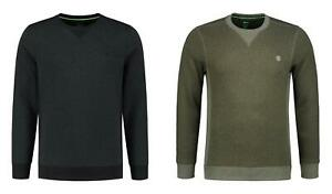 Korda Crew Neck Jumper Charcoal or Olive / Carp Fishing Clothing