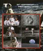 Palau 2018 MNH Moon Landing 50th Anniv Neil Armstrong Apollo 6v M/S Space Stamps