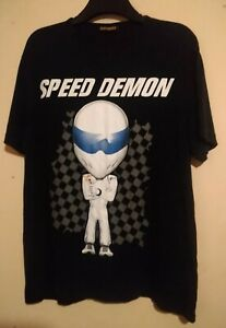 THE STIG TOP GEAR SPEED DEMON T SHIRT LARGE GRAPHIC FRONT PRINT SHRUNKIES L TG