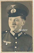 Portrait-foto del soldado ejército con paraguas gorro 2.wk (t960)