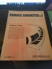 Famouse Favorites No 1 Songbook, For Hammond Chord Organ 1956