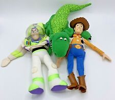 Disney Pixar Toy Story Plush Hand Puppets Woody Rex Buzz Lightyear Burger King