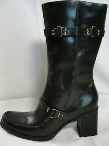 Women's Indigo by Clarks Black Leather Boots, New, Size 10M