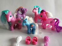 My Little Pony G3 Bundle X 5 Ponies With Brushes + Pair of Shoes lot 1