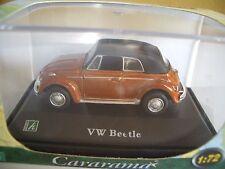 VW Beetle Brown 1:72 Cararama hongwell