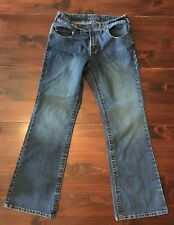 Baccini boot cut mid-rise dark wash blue jeans women's size 10 - 30x30