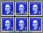6x CANADA 1961 CANADIAN PRIME MINISTER MIGHEN MINT FV FACE 30 CENT MNH STAMP LOT