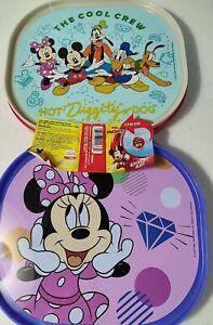 Set Of 2 Disney Junior Reversible Plates 12 m+ BPA Free Mickey Minnie & Friends