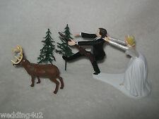Wedding Party Reception ~Deer Hunter ~ Running Groom Cake Topper Hunting  Rifle