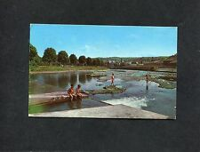 Postcard: View of The River Teviot, Hawick, Scotland, postmark 1976