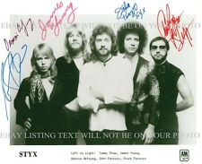 STYX GROUP SIGNED AUTOGRAPHED 8x10 RP PHOTO ALL 5 SHAW DeYOUNG YOUNG PANOZZO
