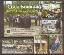 COOK ISLANDS 2010 ANZAC DAY SET & SHEET MNH