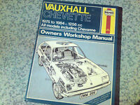 VAUXHALL CHEVETTE All Models 1975-84' Haynes Workshop Manual
