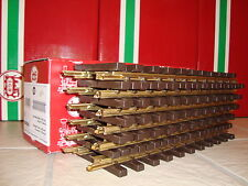 LGB 1000 10000 BRASS 1 FOOT STRAIGHT TRACK CASE 12 PIECES NEW IN BOX CHRISTMAS