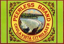 National City San Diego Peerless Dam Lemon Citrus Fruit Crate Label Art Print